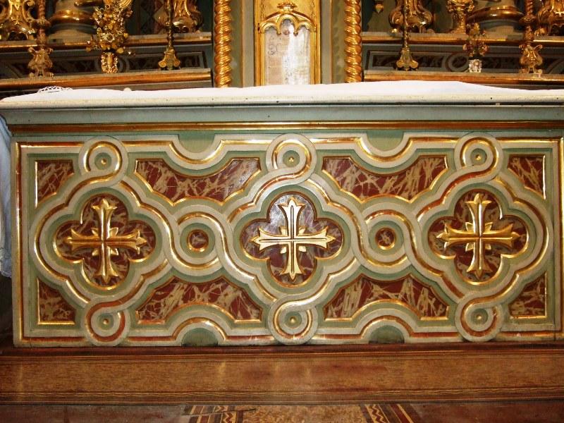 Maitre-autel détails - Eglise