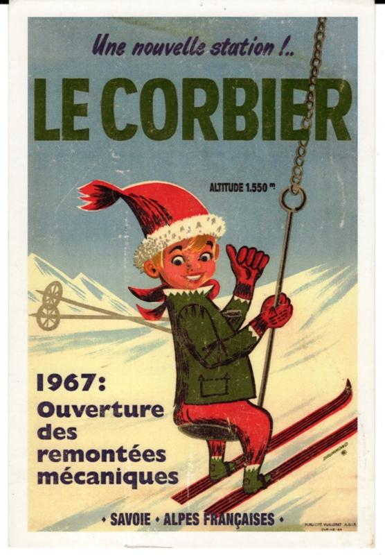 1_Le Corbier 1967  Réédition d'une affiche (1)